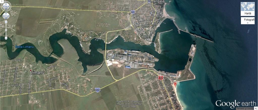 harta estuar Mangalia