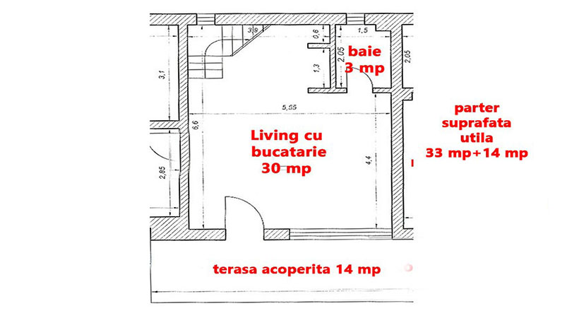 Plan Apartament Lux parter - Vila Evergreen 2 Mai