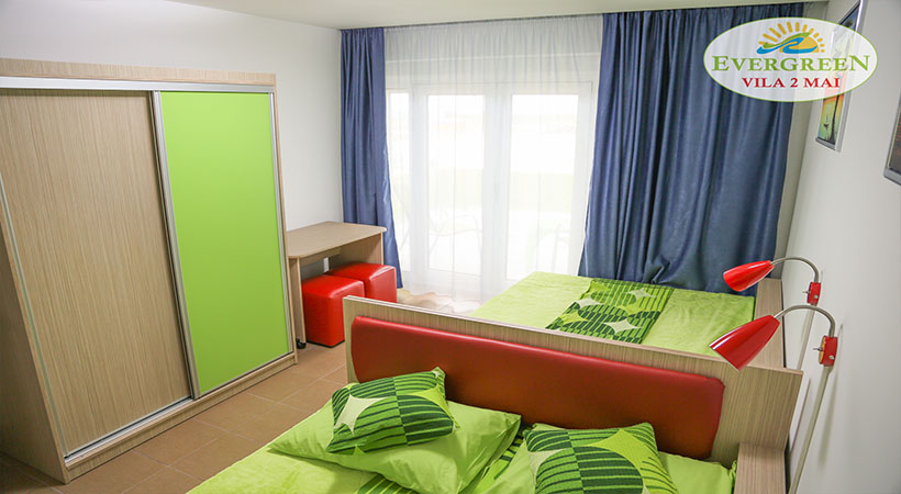Dormitor cu 2 paturi duble
